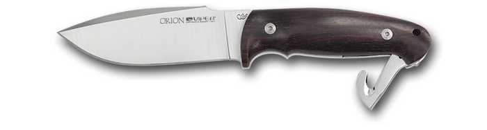 Viper Orion Satin blade - Zircote wooden handle and satin folding gut hook