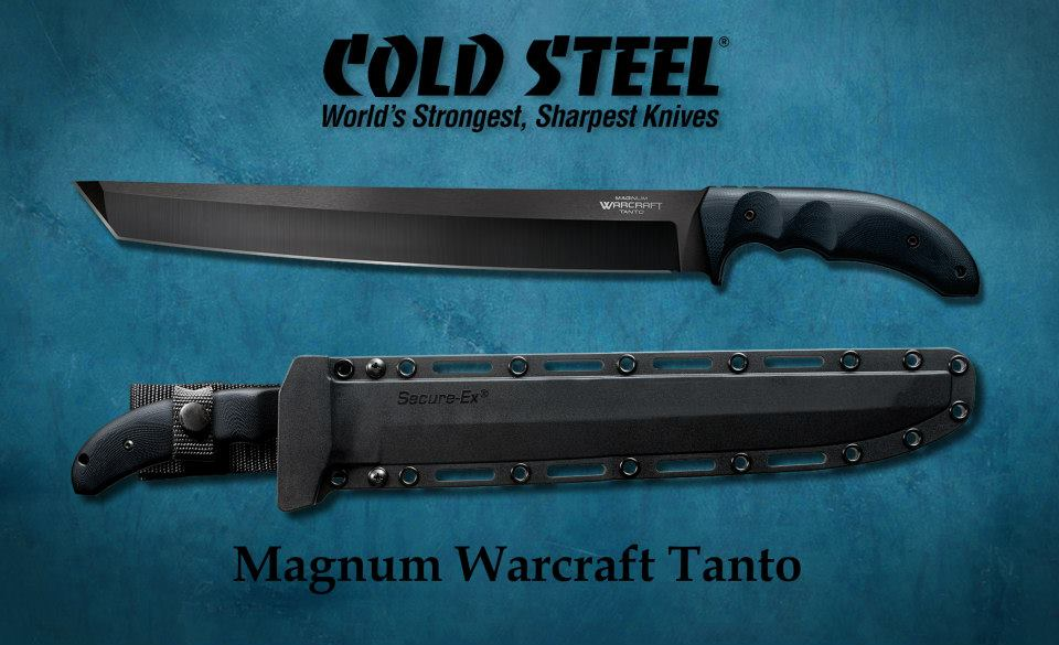 Мощный тесачина Cold Steel Magnum Warcraft Tanto