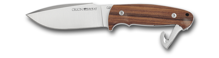 Viper Orion Satin blade - Pau santo wooden handle and satin folding gut hook